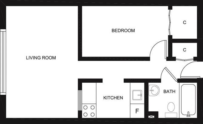 Centretown apartments 218 maclaren clv group for Bachelor flat plans
