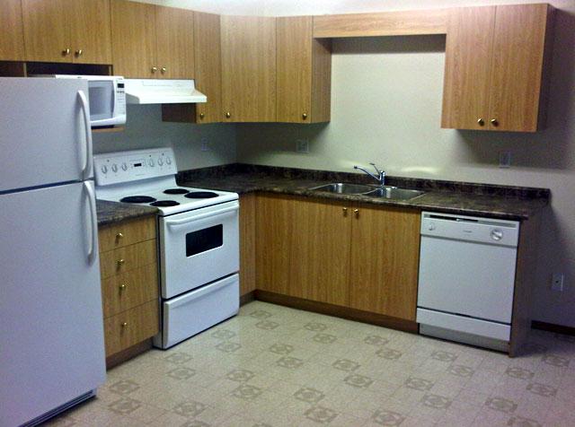 Rent in Grande Prairie – Emerald Manor. Kitchen