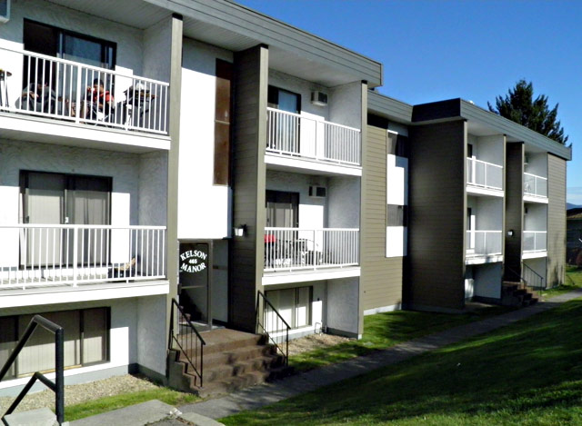 Kamloops Apartments – Kelson Manor Apartments. Building back