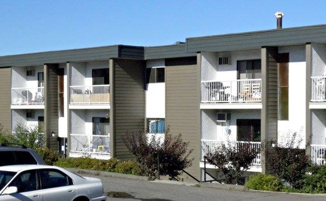 Rent in Kamloops – Kelson Manor Apartments. Building back left