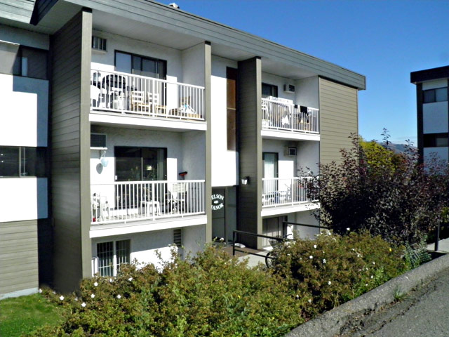 Rent in Kamloops – Kelson Manor Apartments. Building back right