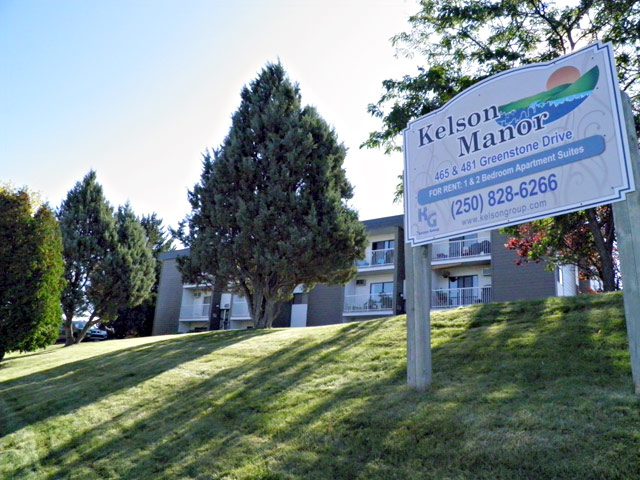 Kamloops Apartments – Kelson Manor Apartments. Sign