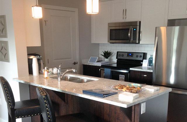Lexington Court Apartments-Langley 221st kitchen
