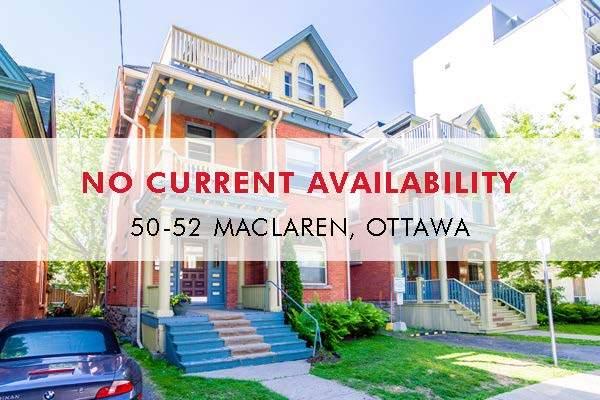 50-52 MacLaren Apartment for Rent Ottawa