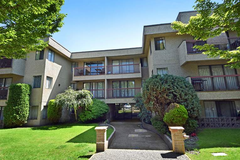 Arbutus Court exterior located in Marpole, Vancouver