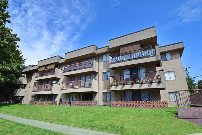 Dennison Court exterior located in Marpole, Vancouver