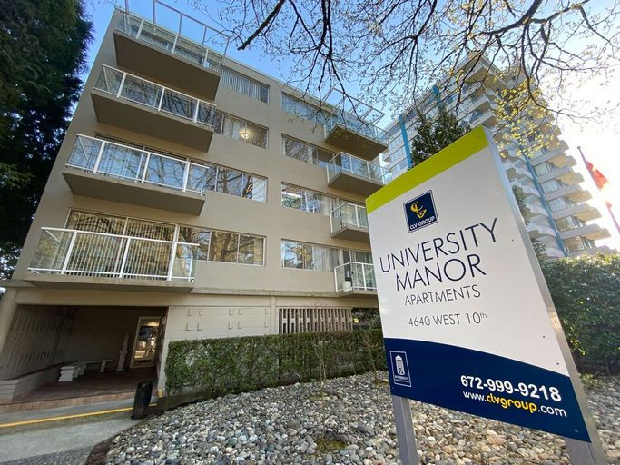 University Manor exterior located in West Point Grey, Vancouver