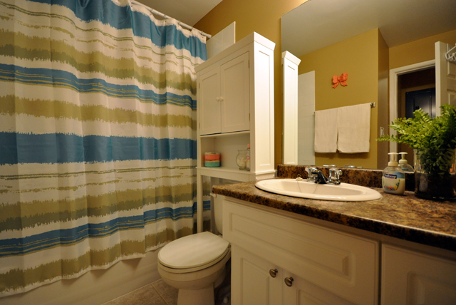 Jason Adam Manor Apartments. bath