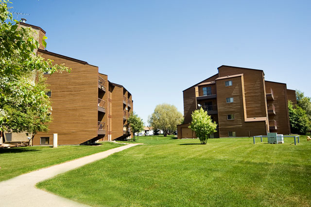 Southdale Park Apartments. yard