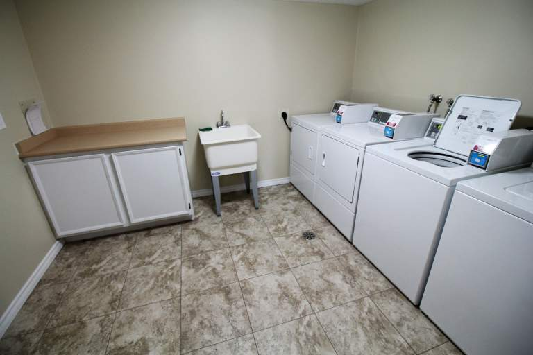The Ridgewood Apartments. laundry
