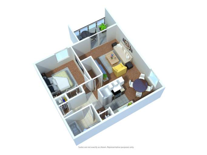 Hillview Estates Apartments floor plan