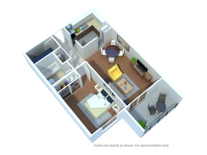 Southdale Park Apartments. 1 bed floor plan