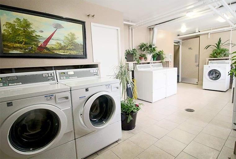 The Carlton Apartments Building laundry