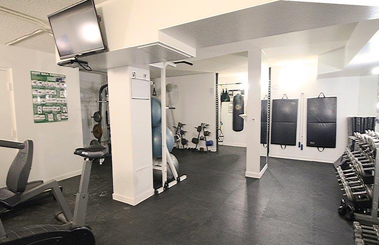 The Carlton Apartments Building gym