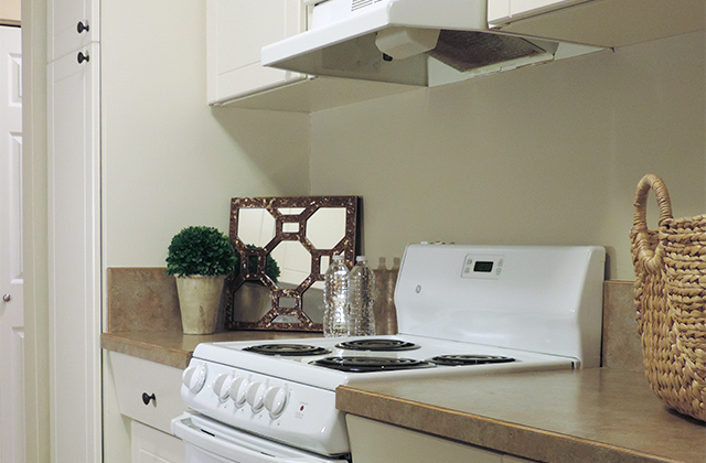 Edgewater Terrace Apartments. kitchen stove