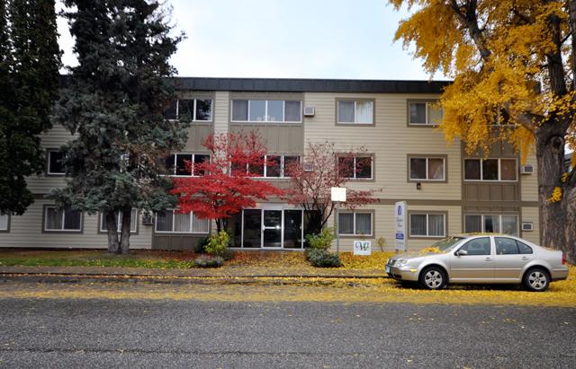 Apartments in Kelowna – Buckland Manor. Front Door