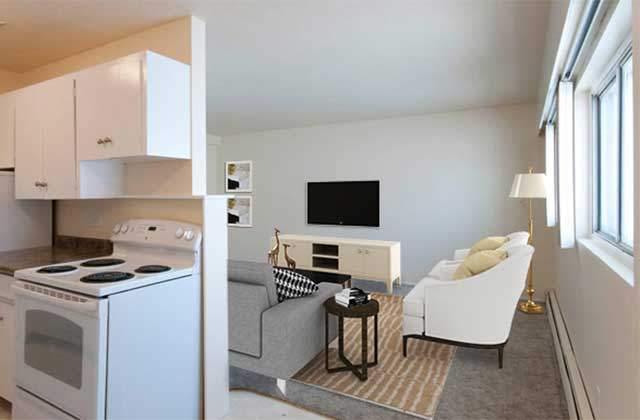 Spruceland Manor Apartments. kitchen live