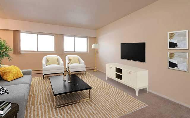 Spruceland Manor Apartments. living