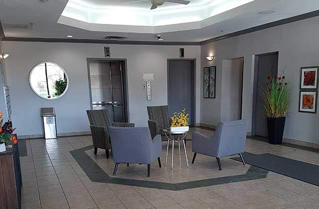 Leduc Apartments for Rent Summit Square Apartments lobby