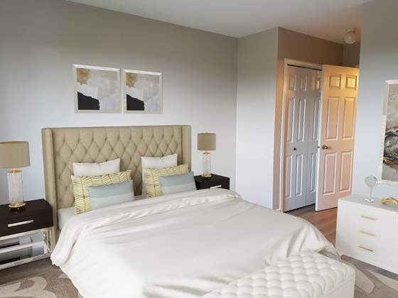 Summit Court Apartments. master bedroom