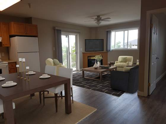 Summit Court Apartment in Leduc livingroom1